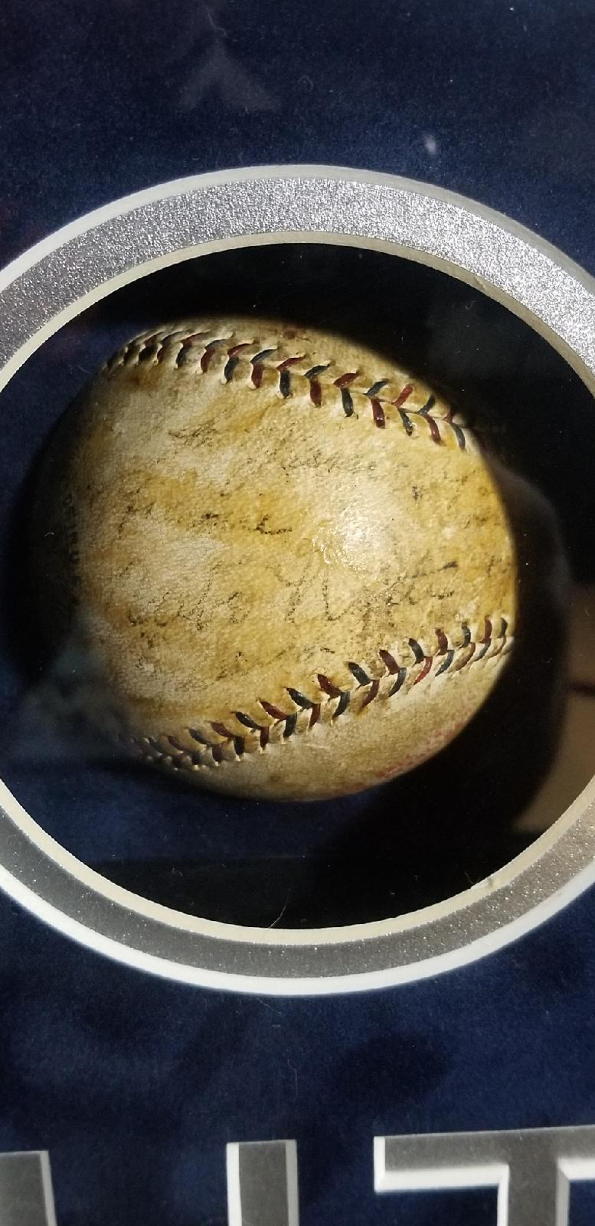 Lot Detail Extremely Rare Signed Babe Ruth Baseball Autographed