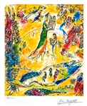MARC CHAGALL King David Lithograph, 192 of 500