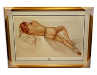 Alberto Vargas (Naked) Exquisitely Museum Framed & Matted Print