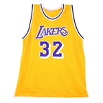 Very Rare Magic Johnson Signed Lakers Jersey Authenticated By PSA