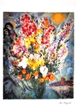 MARC CHAGALL Floral Bouquet Lithograph, 453 of 500