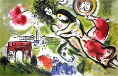 MARC CHAGALL (After) Romeo and Juliet Lithograph, I480 of 500