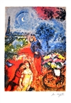 MARC CHAGALL (After) Serenade Lithograph, I410 of 500