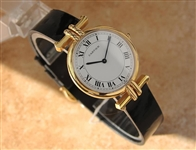 *Luxury Cartier Paris 18k Solid Gold Made in France Cartier Watch -P-
