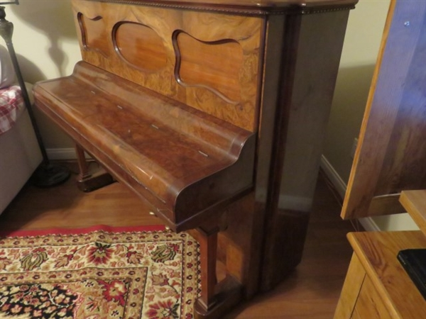 *Steinway and Sons Upright Piano 1876 Serial Number Style 2 Walnut (Pick Up Only From Las Vegas, NV) -PNR-