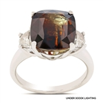 APP: 126.8k *Gorgeous 8.44ct Alexandrite and 0.50ctw 18KT White Gold Diamond Ring (GIA CERTIFIED) - Great Investment (Vault_R11 5211)