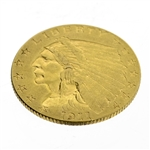 Extremely Rare 1911-D (Date) $2.5 U.S. Indian Head Gold Coin - Great Investment!