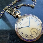 *PATEK PHILIPPE Swiss 18k Gold 46mm c.1920s w/Box & Papers Pocket Watch
