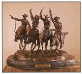 *Very Rare Large Coming Thru The Rye Bronze by Frederic Remington 29 x 30  -Great Investment- (SKU-AS)