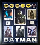 *Extra Rare Batman Authentic Autographed with Certificate Museum Framed Collage Great Investment