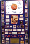 *Extra Rare NBA 60th Anniversary Greats Original Autographed with Certificate Museum Framed Collage Great Investment