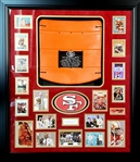 *Extra Rare San Franscisco 49ers Hall of Fame and Candlestick Park Orange Seat Authentic Autographed with Certificate Museum Framed Collage Great Investment