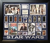*Extra Rare Star Wars Authentic Autographed with Certificate Museum Framed Collage Great Investment