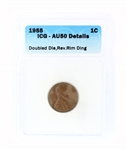 Rare 1955 Double Die ICG - AU50 Details Lincoln Cent Coin
