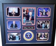 *Rare Donald Trump Museum Framed Collage - Plate Signed