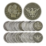 10 Rare Early Date U.S. Barber Silver Quarter Dollar Coins - Great Investment -