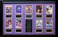 *Rare L.A. Laker Legends Museum Framed Collage - Plate Signed