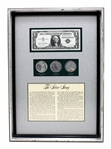 Rare Early American U.S. The Silver Story Framed Coin Collection Set - Great Investment -
