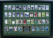 *Rare Golf Masters Champions Museum Framed Collage - Plate Signed