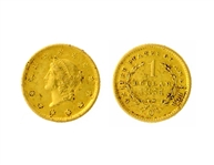 1851-O U.S. $1.00 Liberty Head Gold Coin - Great Investment -