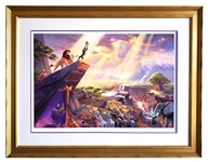 *Rare Thomas Kinkade Original Limited Edition Numbered Lithograph Plate Signed Museum Framed The Lion King