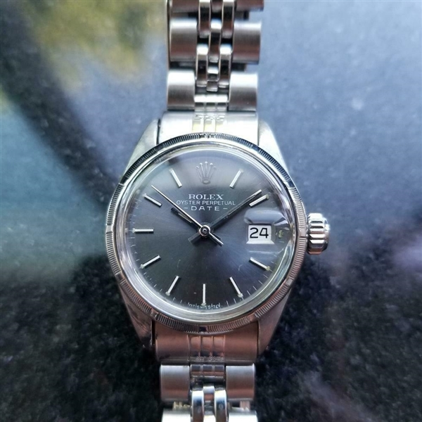 *ROLEX Oyster Perpetual Date 25mm Automatic c.1970s Ladies Watch -P-