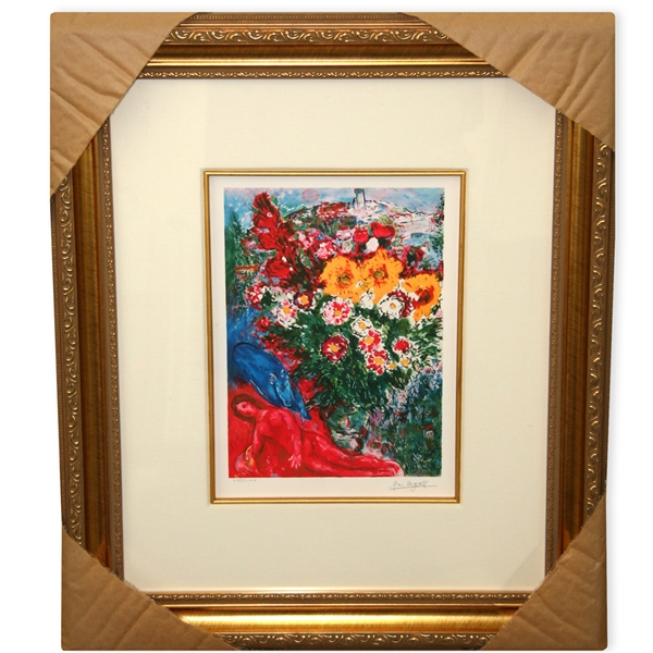 Chagall (After) 'Les Soucies' Museum Framed Giclee-Ltd Edn