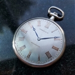 *TIFFANY & CO Rare Platinum 45mm c.1930s Swiss Luxury Pocket Watch -P-
