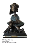 *Rare Limited Edition Numbered Bronze Picasso Maya with Boat 28 H x 16 L x 14 W -Great Investment-