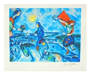 MARC CHAGALL Lovers Over Paris, LXIX of CCLXXV