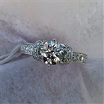 APP: 11.5k *Fine Jewelry 14KT White Gold, 1.38CT Brilliant Cut Diamond Engagement Ring (VGN B-173)