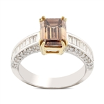 APP: 26.8k *14KT White Gold 2.12ct SI2 CLARITY FANCY BROWN CENTER Diamond Ring (2.97ctw Diamonds) (Vault_R14 7135)