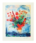 MARC CHAGALL Bouquet Over City, CI of CCLXXV